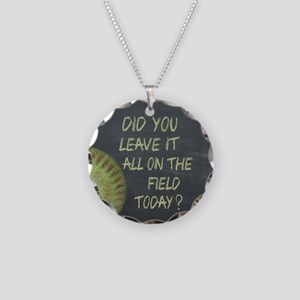 The Field Today Fastpitch So Necklace Circle Charm
