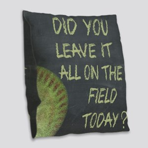 The Field Today Fastpitch Soft Burlap Throw Pillow