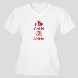 Keep Calm and Kiss Amina Plus Size T-Shirt