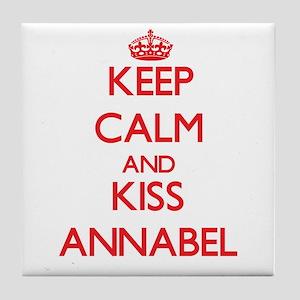 Keep Calm and Kiss Annabel Tile Coaster