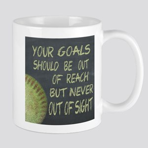 Your Goals Fastpitch Softball Motivatio Mug