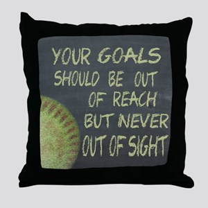Your Goals Fastpitch Softball Motivat Throw Pillow