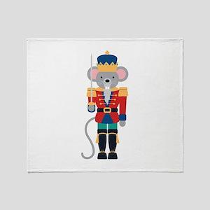 Nutcracker Ballet Story Mouse King Throw Blanket