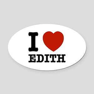 I love Edith Oval Car Magnet