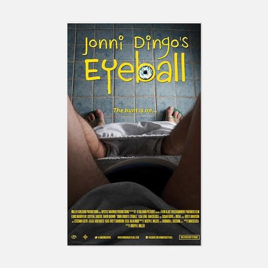 Jonni Dingos Eyeball Sticker (Rectangle)