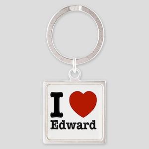 I love Edward Square Keychain