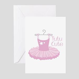 Tutu Cute Greeting Cards