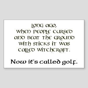 Golf Rectangle Sticker