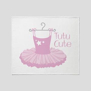 Tutu Cute Throw Blanket