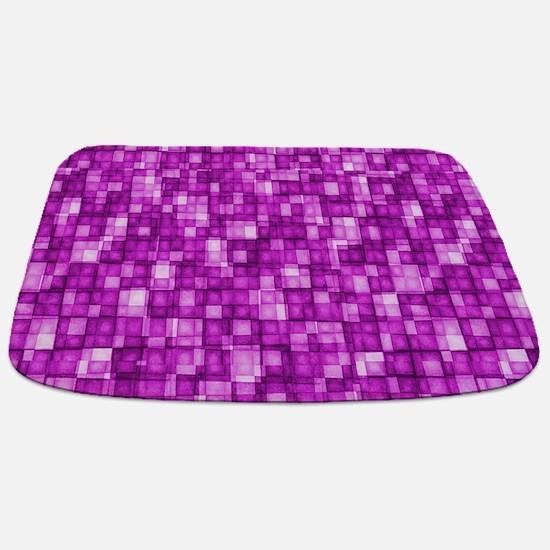 Watercolor Mosaic Tiles Shades of Hot Pink mat Bat