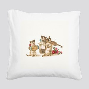 Caterwauling Square Canvas Pillow