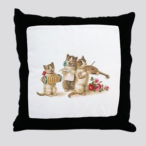 Caterwauling Throw Pillow