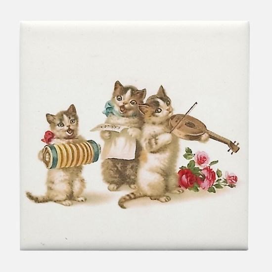 Caterwauling Tile Coaster
