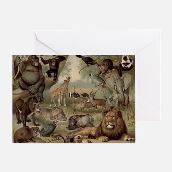Vintage Jungle Greeting Cards