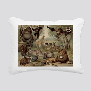 Vintage Jungle Rectangular Canvas Pillow