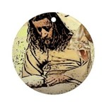 Jesus Tempted In The Desert Ornament (Round)