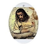 Jesus Tempted In The Desert Ornament (Oval)