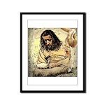 Jesus Tempted In The Desert Framed Panel Print