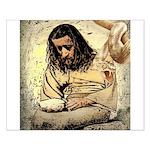 Jesus Tempted In The Desert Poster Design