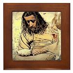 Jesus Tempted In The Desert Framed Tile