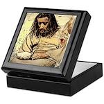 Jesus Tempted In The Desert Keepsake Box