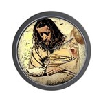 Jesus Tempted In The Desert Wall Clock