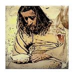Jesus Tempted In The Desert Tile Coaster