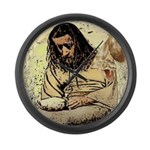 Jesus Tempted In The Desert Large Wall Clock