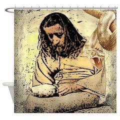 Jesus Tempted In The Desert Shower Curtain