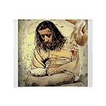 Jesus Tempted In The Desert Throw Blanket
