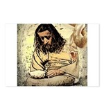 Jesus Tempted In The Desert Postcards (Package of