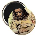 Jesus Tempted In The Desert Magnets