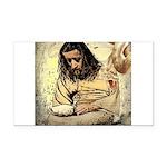 Jesus Tempted In The Desert Rectangle Car Magnet