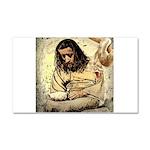 Jesus Tempted In The Desert Car Magnet 20 x 12