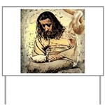 Jesus Tempted In The Desert Yard Sign