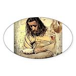 Jesus Tempted In The Desert Sticker