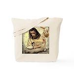 Jesus Tempted In The Desert Tote Bag