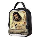 Jesus Tempted In The Desert Neoprene Lunch Bag