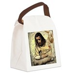 Jesus Tempted In The Desert Canvas Lunch Bag