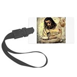 Jesus Tempted In The Desert Large Luggage Tag