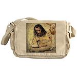 Jesus Tempted In The Desert Messenger Bag