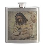 Jesus Tempted In The Desert Flask