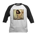 Jesus Tempted In The Desert Baseball Jersey