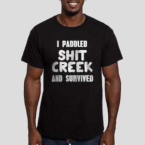 Shit Creek Survivor Men's Fitted T-Shirt (dark)