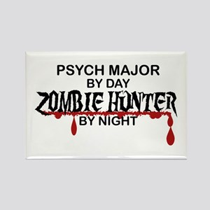 Zombie Hunter - Psych Major Rectangle Magnet