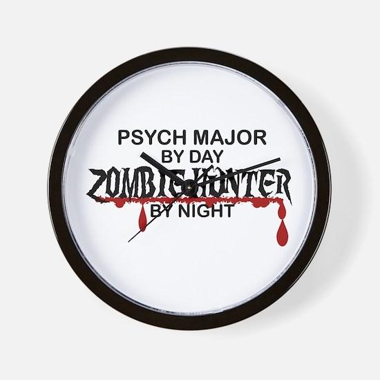 Zombie Hunter - Psych Major Wall Clock