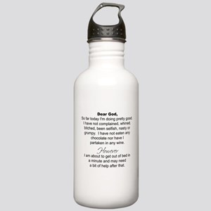 Dear God (mugs) Water Bottle