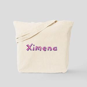 Ximena Pink Giraffe Tote Bag