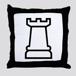 Rook Chess Piece Throw Pillow
