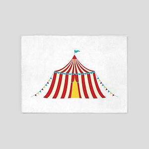 Circus Tent 5'x7'Area Rug